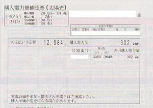 売電(2013年02月)