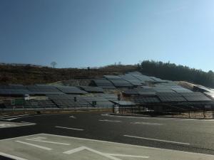 山田サービスエリア 太陽光パネル